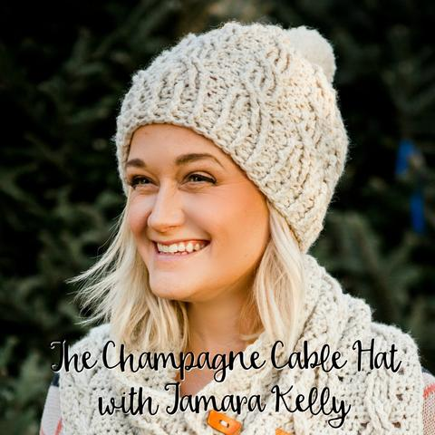 Champagne Cables Hat - free Moogly pattern on Furls Crochet!