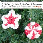 Fast & Festive Christmas Ornaments - free crochet pattern and video tutorials on Mooglyblog.com!