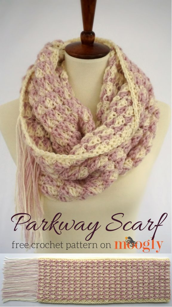 Parkway Scarf - free crochet pattern on Moogly!