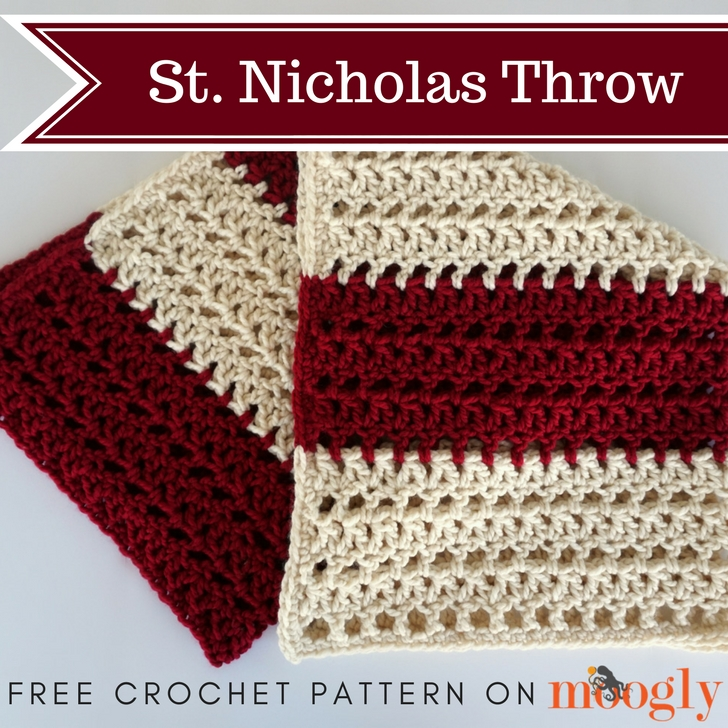 St. Nicholas Throw - free crochet pattern on Moogly
