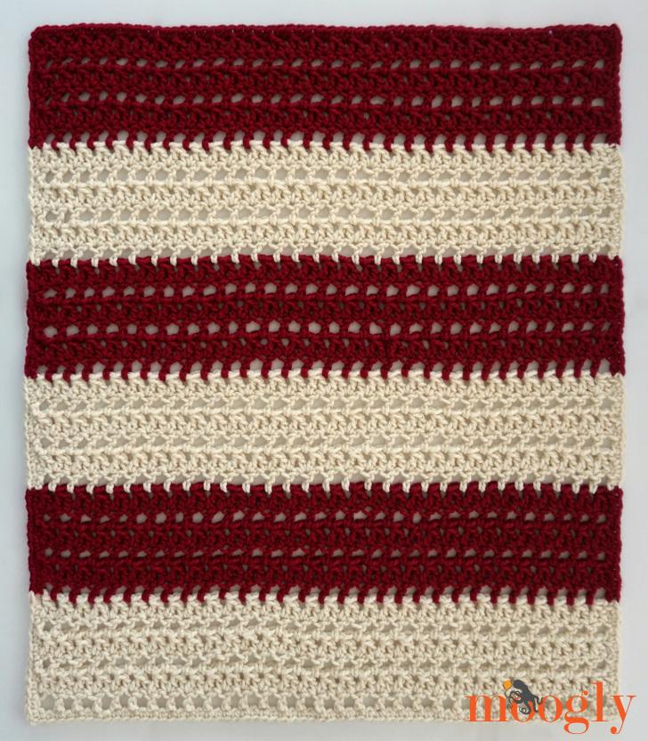St. Nicholas Throw - free crochet pattern on Moogly