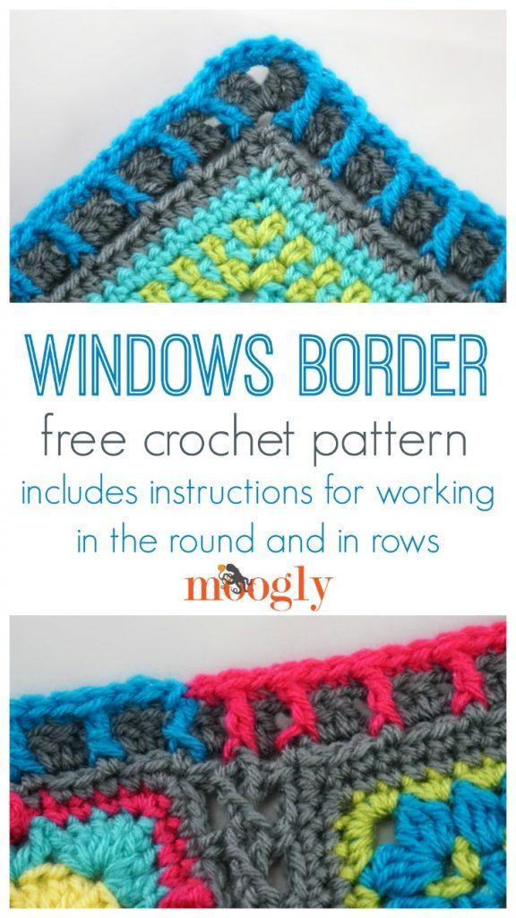 Windows Border - free crochet edging pattern on Moogly!