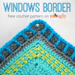 Windows Border - free crochet edging pattern on Moogly!