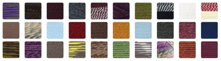 The gorgeous colors of Lion Brand Wool-Ease Thick & Quick!