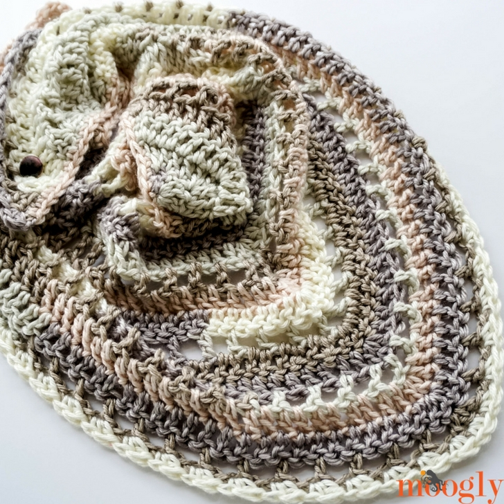 Brown Butter Shawl - Free Crochet Pattern on Moogly