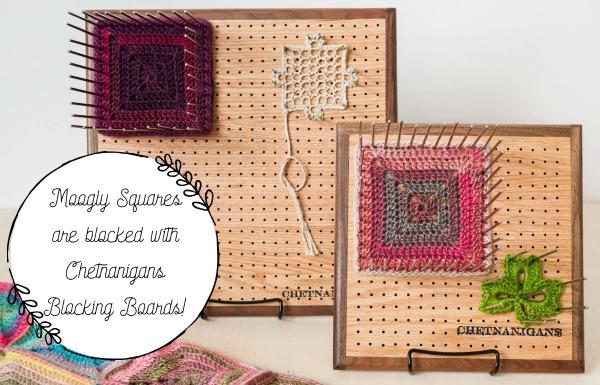Chetnanigans Blocking Boards make crochet squares better than ever!