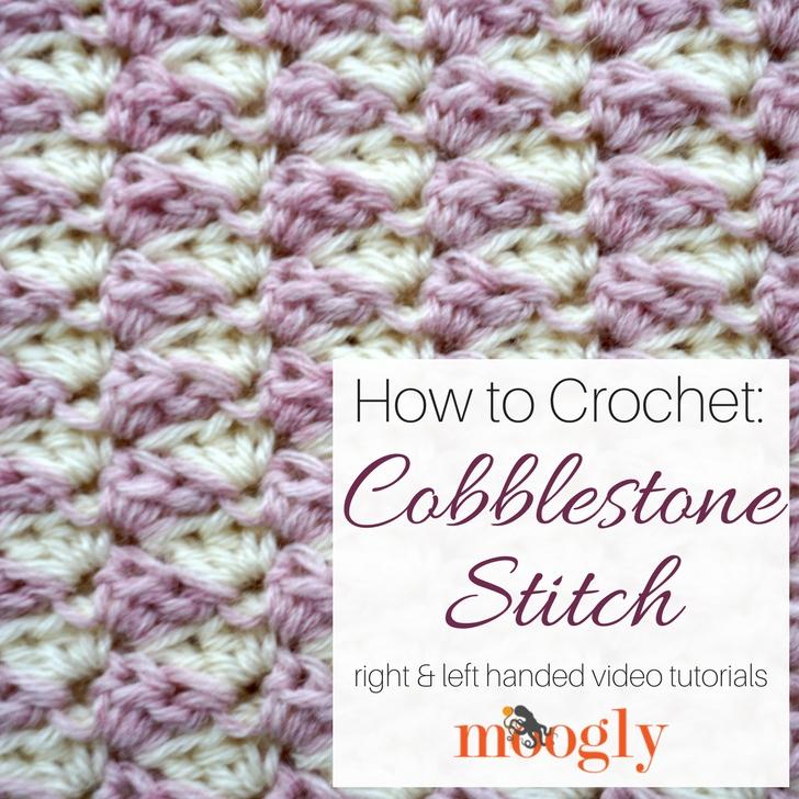 Cobblestone Stitch - Free #Crochet Video Tutorial on Moogly