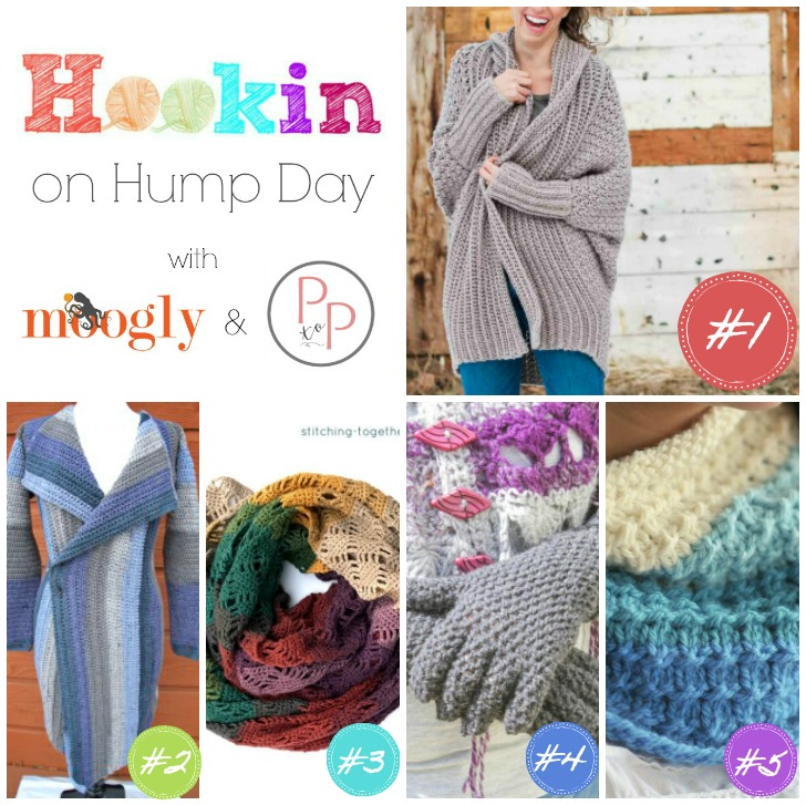 Hookin On Hump Day #159 - see what's new on Moogly and Petals to Picots!