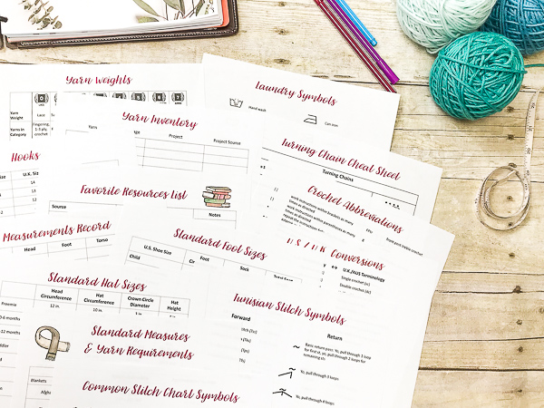 Printable Crochet Project Planner - Giveaway and Review on Moogly! Giveaway open worldwide, ends, 1/29/18