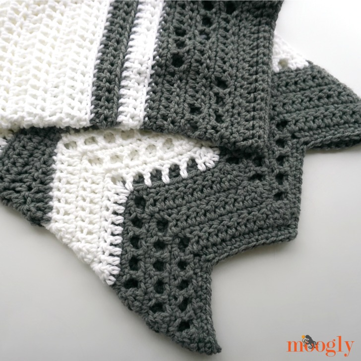 Modern Luxe Throw - free crochet pattern on Moogly!