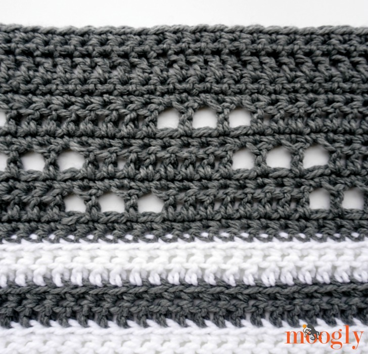 Modern Luxe Throw - free crochet pattern on Moogly!