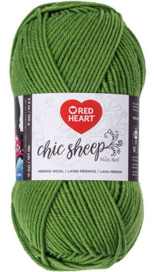 Red Heart Chic Sheep in Green Tea