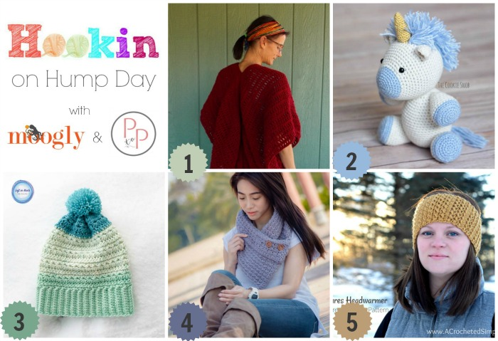 Hookin On Hump Day #160 - Link party winners! Get these pattern links and more on Mooglyblog.com