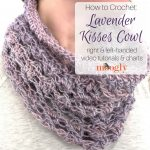 Lavender Kisses Cowl Tutorial