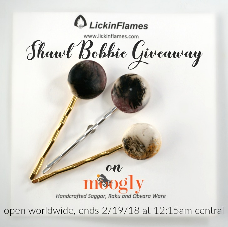 LickinFlames Shawl Bobbies - Giveaway on Moogly! Open worldwide, ends 2/19/18 at 12:15am Central US time.