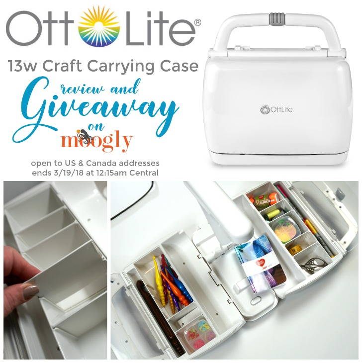 OttLite 13w Craft Carrying Case: Giveaway on Moogly! Open to US and Canada addresses, ends 3/19/18 at 12:15am Central US time.