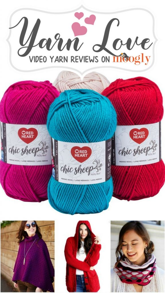 Red Heart Chic Sheep by Marly Bird - learn more about this pretty yarn and get FREE patterns to use it with on Moogly!