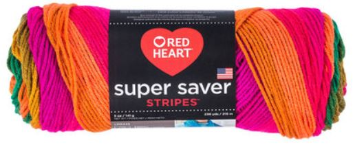 Red Heart Yarns: Preppy Stripes Colorway