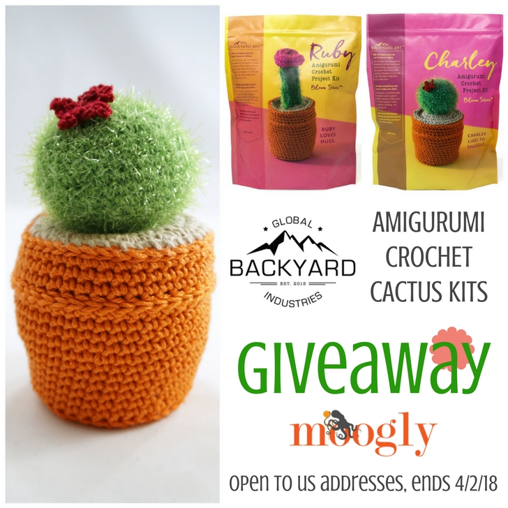 Enter to win the Amigurumi Cactus Kit Giveaway on Moogly, sponsored by Global Backyard Industries! Open to US addresses, ends 4/2/18 at 12:15am central US time