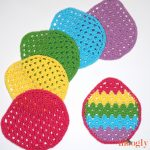 Easter Egg Granny Washcloths - free crochet pattern on Moogly!