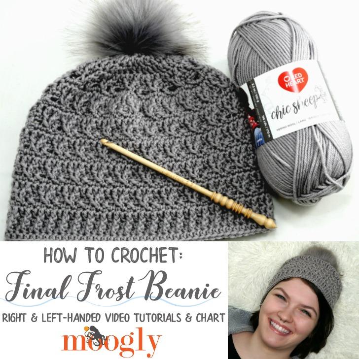 Final Frost Beanie - video tutorials, chart, and written pattern on Moogly!