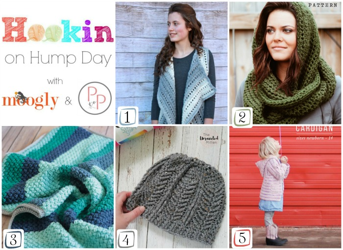 Hookin On Hump Day #162 - the happiest crochet and knit pattern link party on Moogly and Petals to Picots!