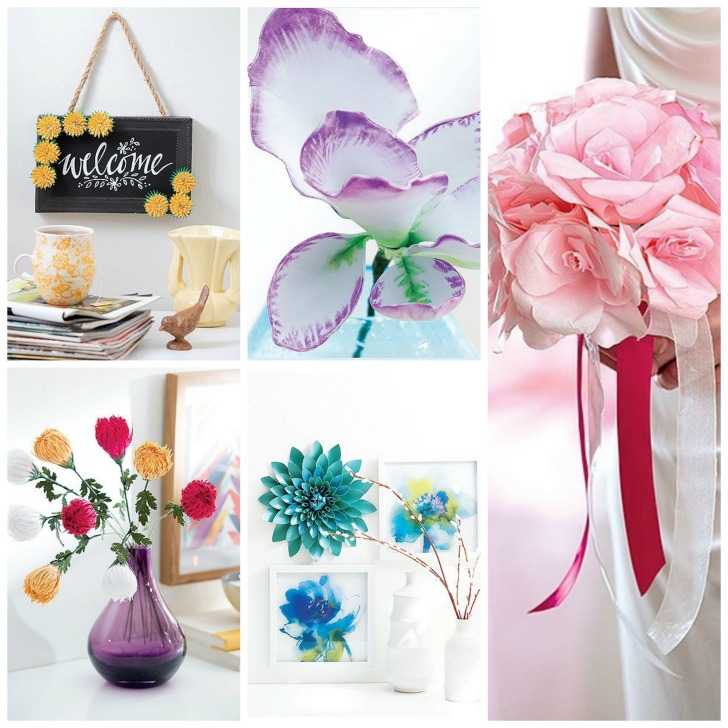 Paper Flowers by Jennifer Maker - get the book on Moogly!