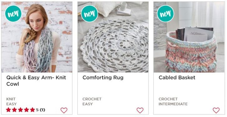 Beautiful free crochet and knit patterns featuring Red Heart Collage Yarn