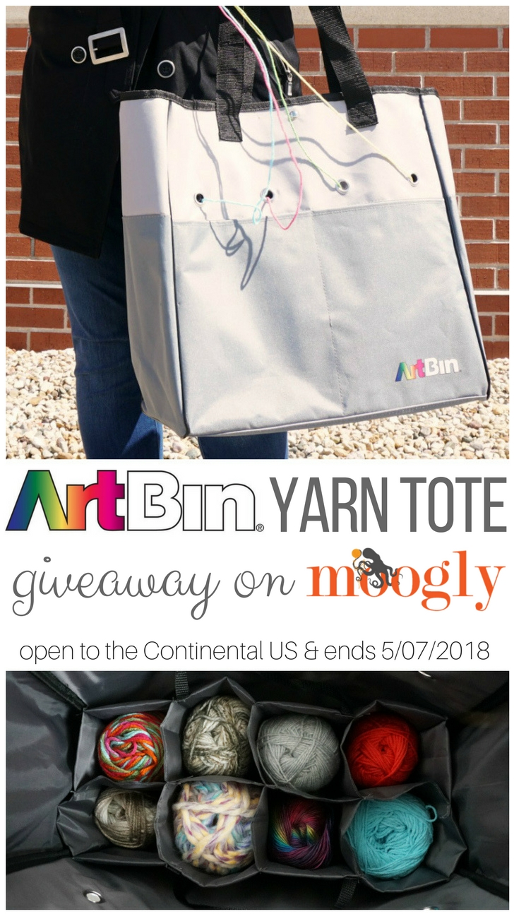 ArtBin Yarn Tote - review and giveaway on Moogly! Open to US Continental addresses, ends 5/7/18 at 12:15am CST. Sponsored by ArtBin.