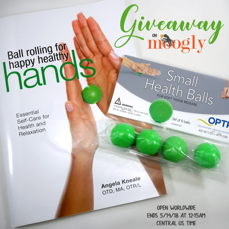 Ball Rolling for Happy Healthy Hands Giveaway on Moogly! Open worldwide, ends 5/14/18 at 12:15am Central US time.