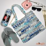 Fair Weather Beach Tote free crochet pattern with accessories
