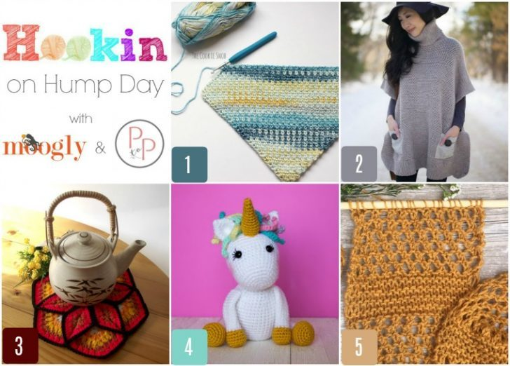 Get Hookin On Hump Day! It's the best crochet link party, knitting link party, and yarny link party around, on Moogly and Petals to Picots!