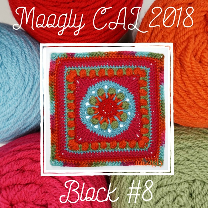 Level up your crochet skills with the yearly Moogly Afghan CAL! Block #8 for 2018 is up now!
