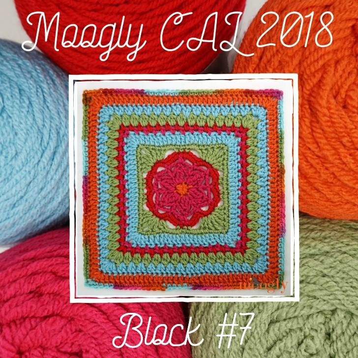 MooglyCAL2018 Block #7, courtesy of Petals to Picots! Get all 24 FREE patterns on Moogly!