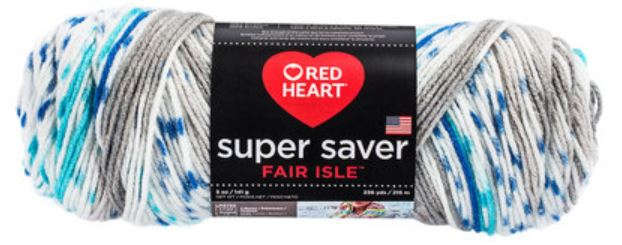 Red Heart Super Saver Fair Isle: Calm Isle Colorway