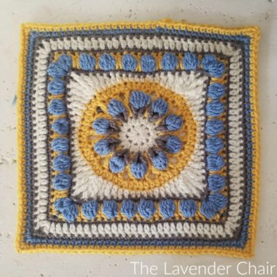 Tuscan Flower Square by The Lavender Chair - Block #8 in the Moogly 2018 CAL! Get this pattern free - plus 23 more! - on Moogly!
