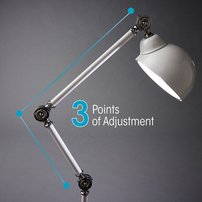 OttLite Revive LED Floor Lamp has 3 points of adjustment for a custom height!