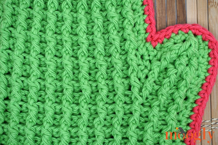 Closeup of the cactus branch of the Tall Cactus Potholder