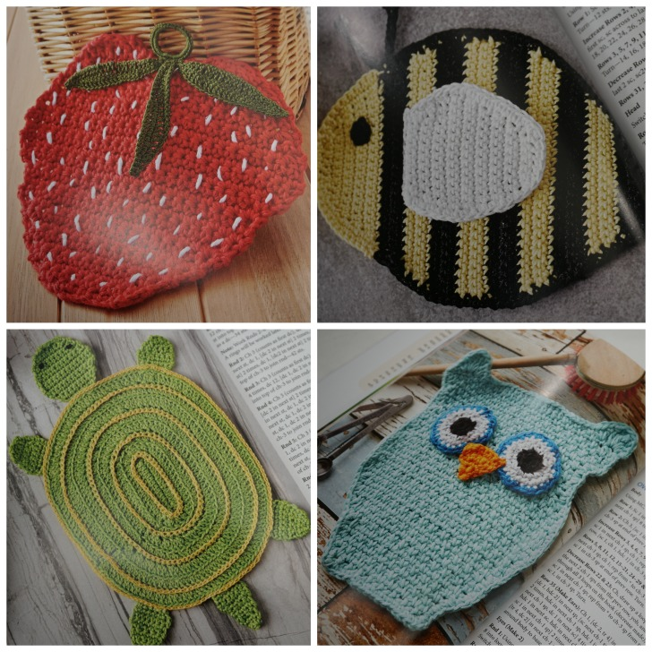 Dishcloths to Crochet Animal and Fruit Dishcloths