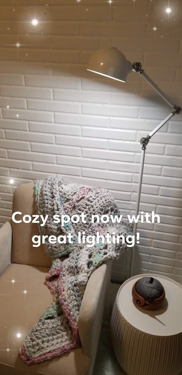 My OttLite Revive LED Floor Lamp is finished and at home!