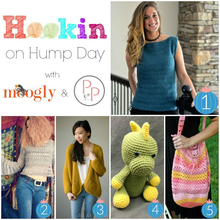 Hookin On Hump Day #167 - get the hottest new crochet and knit patterns on Moogly and Petals to Picots - from all of your favorite designers!