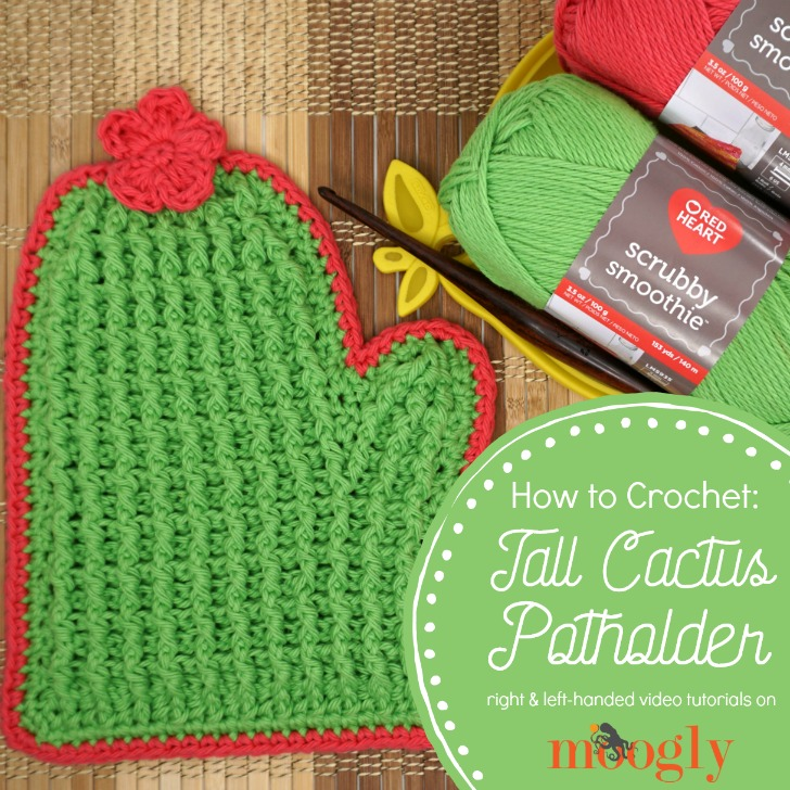 Tall Cactus Potholder Tutorial on Moogly