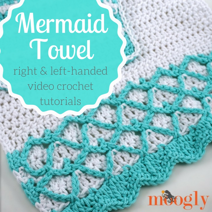 Crochet your own Mermaid Towel with this free pattern and Moogly video tutorial!
