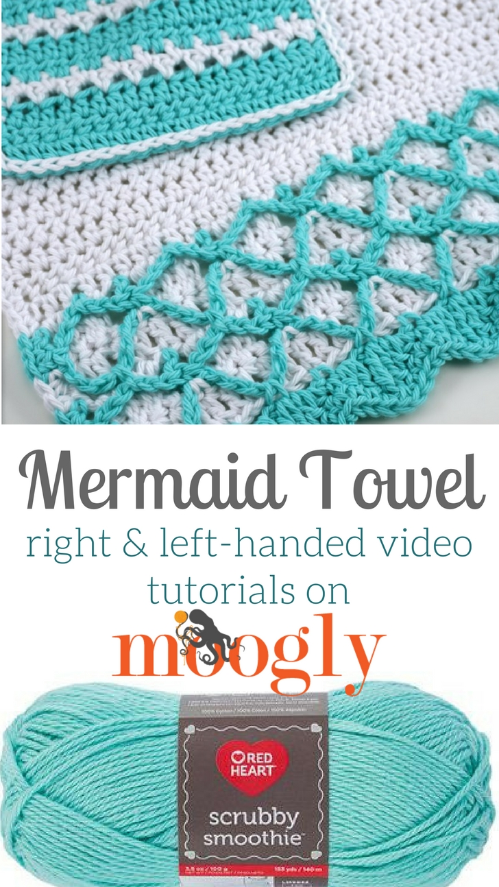 Mermaid Towel Tutorial - Learn how to crochet this free pattern on Moogly!