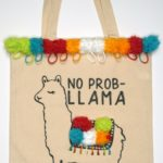 Quick Cricut Craft: No Prob-Llama Tote with Pom Poms