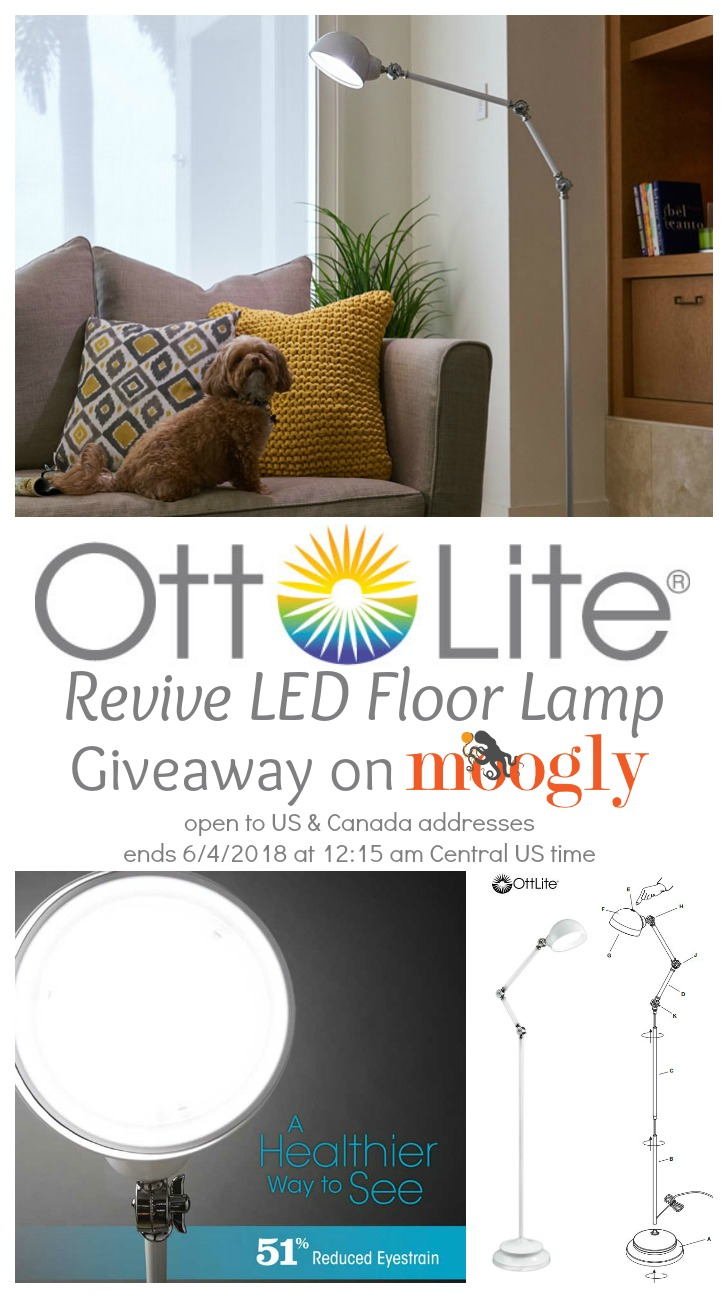OttLite Revive LED Floor Lamp Review, Live Unboxing, and Giveaway on Moogly! The giveaway ends 6/4/2018 at 12:15 am Central US time