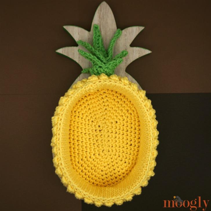 Pineapple Basket Free Crochet Pattern On Moogly