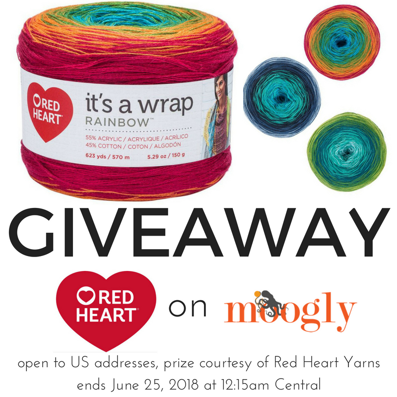 Red Heart It's A Wrap Rainbow - Giveaway on Moogly!