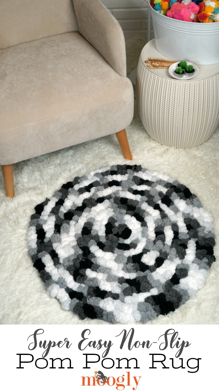 Super Easy Non Slip Pom Rug Pin This Image