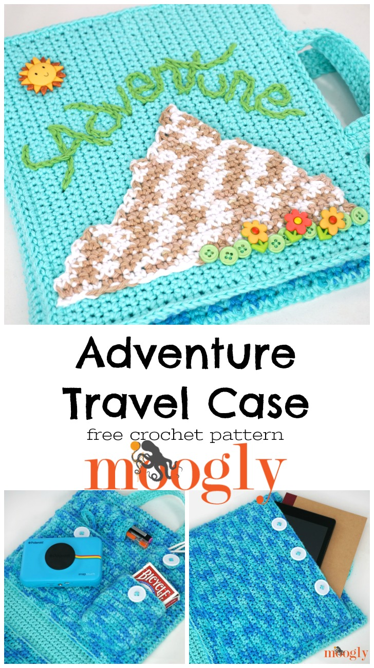 Adventure Travel Case - get your little explorer ready for summer expeditions with this free crochet pattern on Moogly!